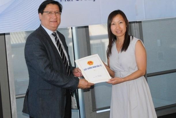 SHTP trao giay phep cho doanh nghiep tai Hoa Ky