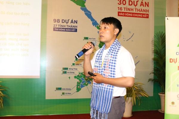 Nguyễn Văn Tuấn trình bày Dự án Máy nông nghiệp đa năng Thành Ngân