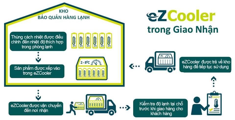 Quy trình vận chuyển dược phẩm bằng thùng lạnh eZCooler
