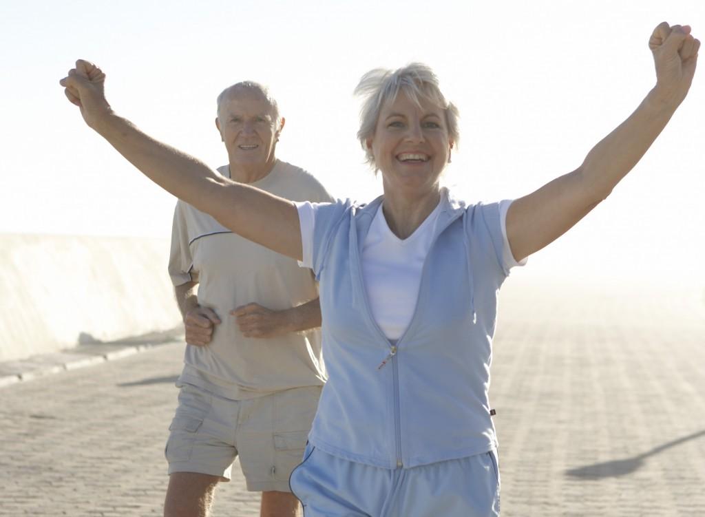 Couple exercising outdoor