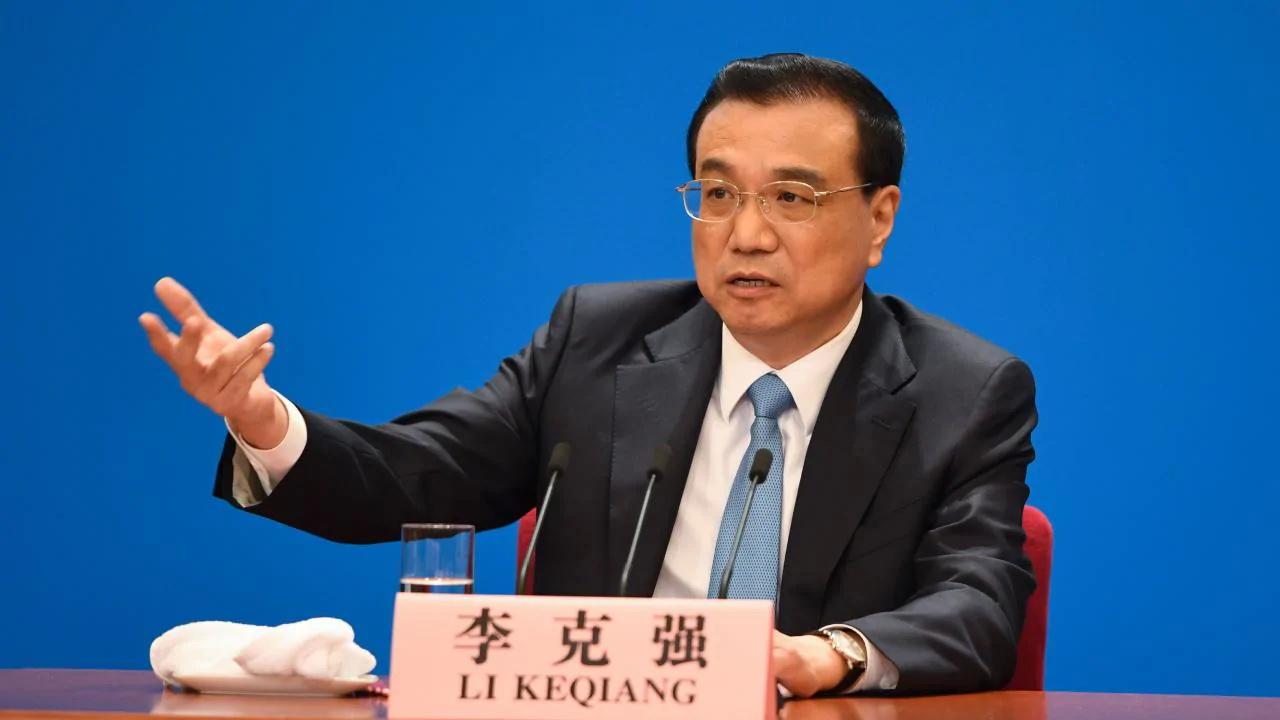 Thủ tướng Trung Quốc Lý Khắc Cường phát biểu tại một cuộc họp báo sau phiên họp của Quốc hội. Ảnh: TL