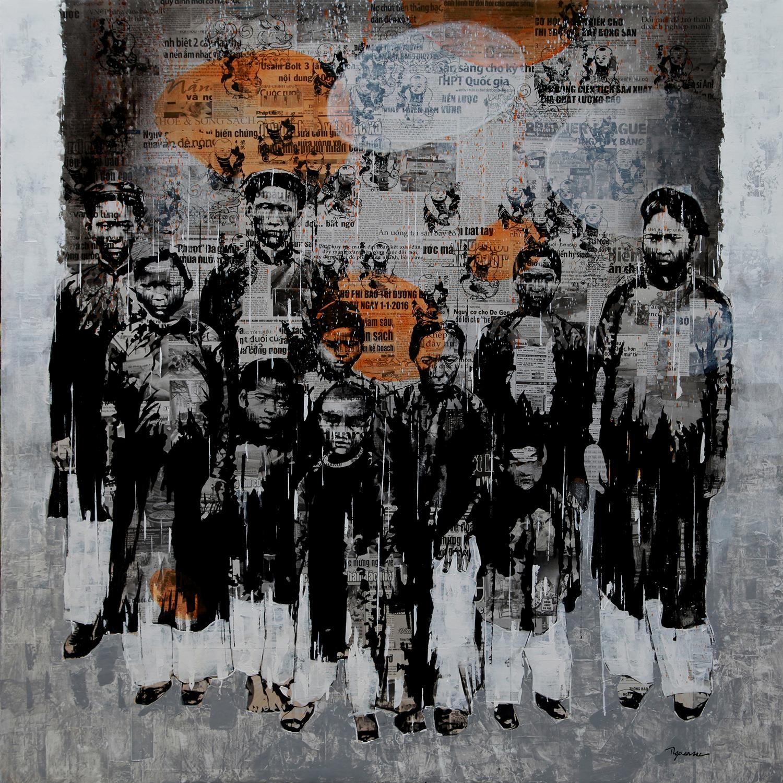 Ngô Văn Sắc- Phai Nhạt 2- 2015 Chất liệu tổng hợp trên toan 155 x 155 cm