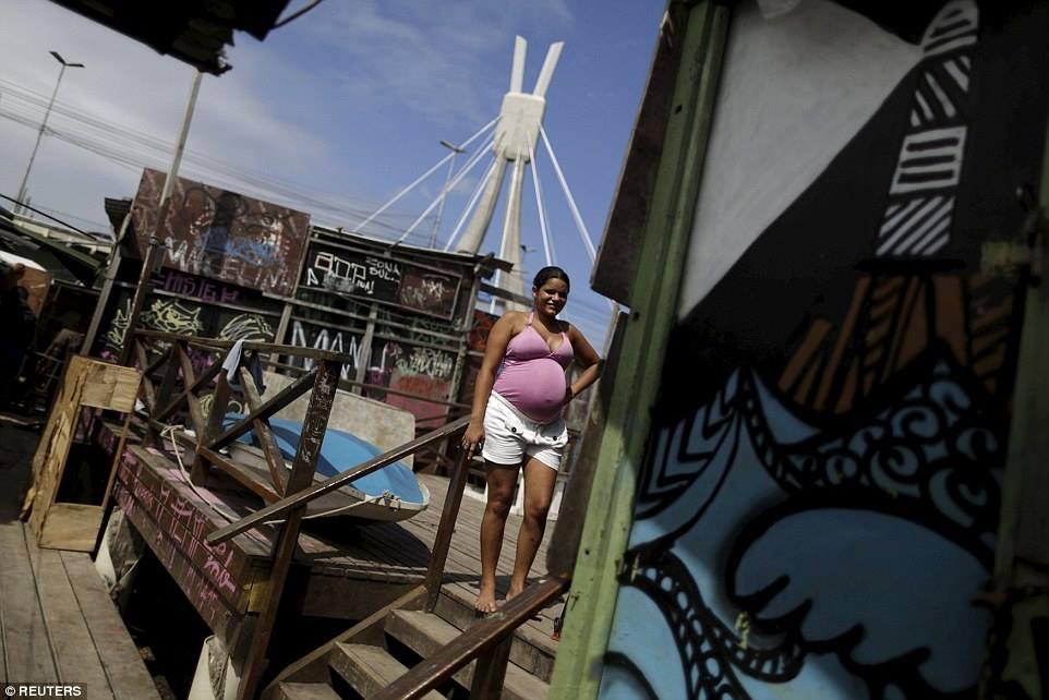 Lediane da Silva mang thai tám tháng đang ở tại thị trấn Beco do Sururu, Recife, Brazil. Chính phủ Brazil hiện nay đang cam kết phát thuốc trừ muỗi đến tận tay phụ nữ mang thai thu nhập thấp.