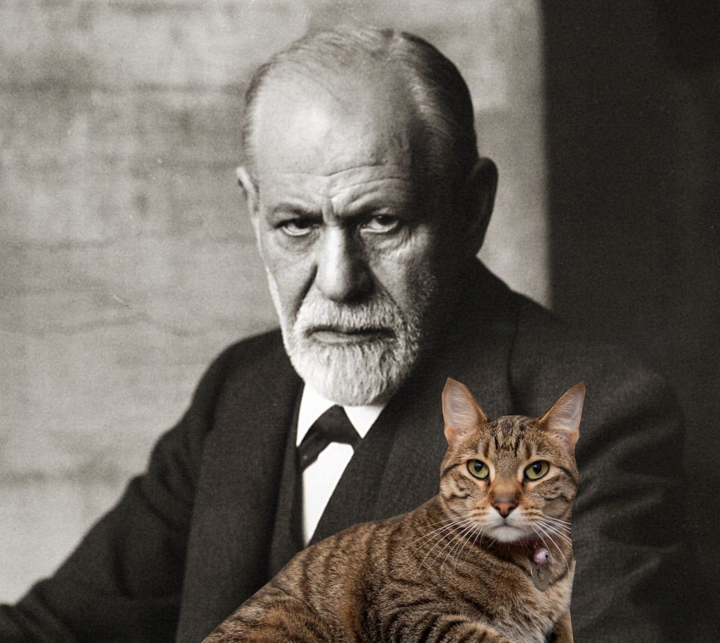 Freud-and-his-cat