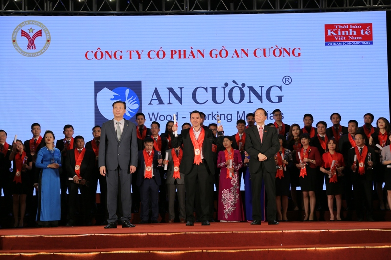 Dai dien Go An cuong don nhan giai Thuong hieu manh Viet Nam 2016