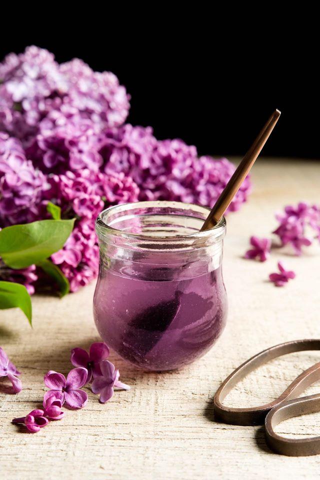 Blueberry and Lilac Syrup Panna Cotta - chuyen doi thuong