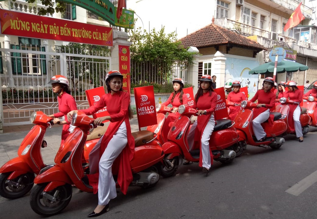 Cuộc biểu dương ra mắt của Go-Viet tại Hà Nội hôm 12/9. Ảnh: TL